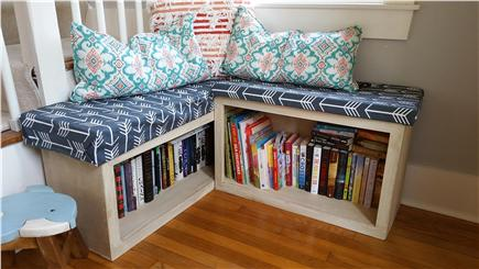 Harwich Cape Cod vacation rental - Reading nook by stairs and front door