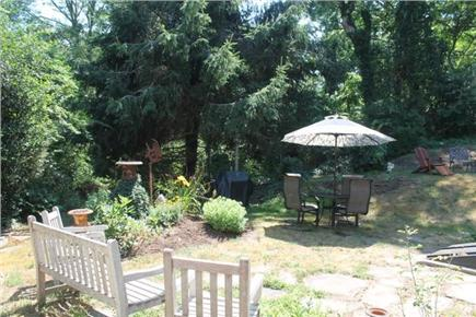 South Orleans Cape Cod vacation rental - Private backyard with patio and gas grill