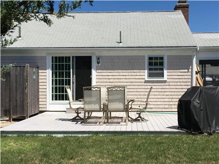 West Dennis Cape Cod vacation rental - Large back deck
