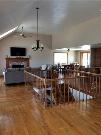 Sandwich Cape Cod vacation rental - Open concept upstairs living area and kitchen