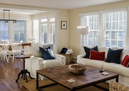Harwich Cape Cod vacation rental - Comfortable Living Room Open to Dining Area