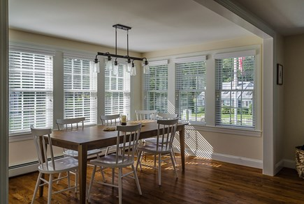 Harwich Cape Cod vacation rental - Dining Area with Large Ethan Allen Farmhouse Table