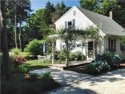 East Orleans Cape Cod vacation rental - Enter the cottage through a climbing rose pergola.