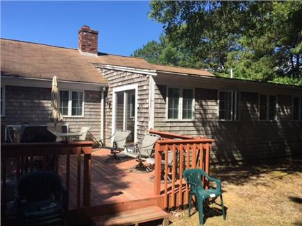 Mashpee Cape Cod vacation rental - Deck with gas grill for relaxing and soaking up the sun