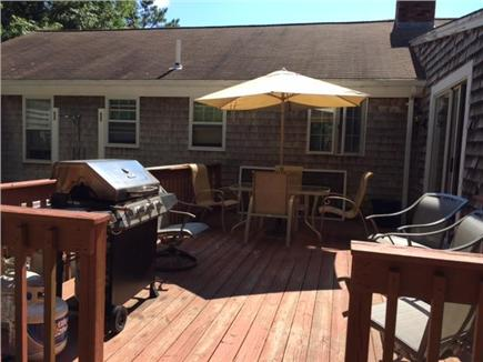 Mashpee Cape Cod vacation rental - Another view of our comfortable deck