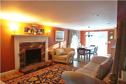 Brewster Cape Cod vacation rental - Open concept kitchen, living, dining area opens to beautiful yard