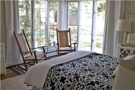 Orleans Cape Cod vacation rental - Master Bedroom - Queen sized bed and ceiling to floor windows.