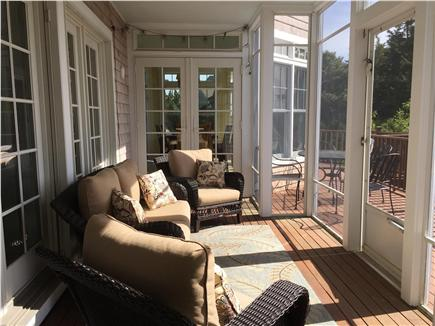 Orleans Cape Cod vacation rental - Screened in porch overlooking conservation area