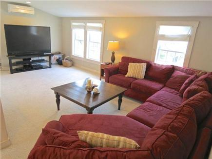 Orleans Cape Cod vacation rental - Front house upper level TV loft with huge sectional and giant TV