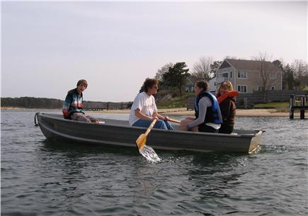 East Falmouth Cape Cod vacation rental - Rowing to Washburn Island