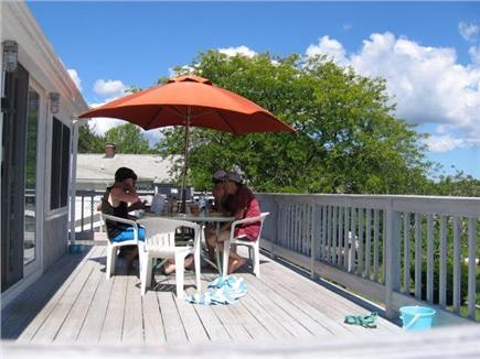 East Falmouth Cape Cod vacation rental - Lunch on the deck