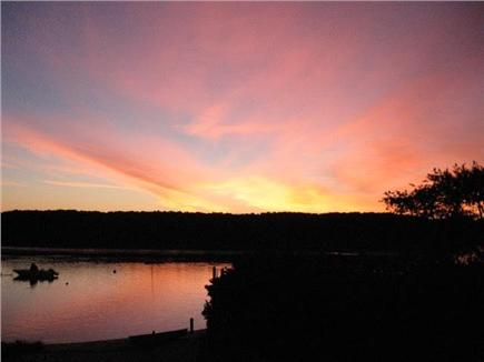 East Falmouth Cape Cod vacation rental - Sunrise in front of house