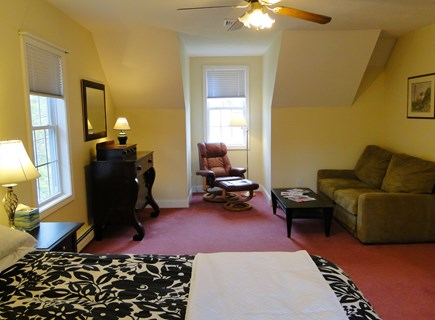 West Falmouth near Old Silver  Cape Cod vacation rental - Sitting area of upstairs queen bedroom.
