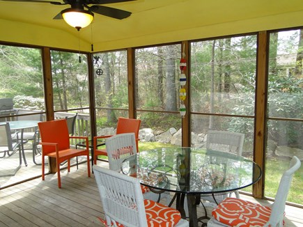 West Falmouth near Old Silver  Cape Cod vacation rental - Screened in porch overlooking back yard