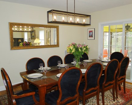 West Falmouth near Old Silver  Cape Cod vacation rental - Dining area seats 10, opens to porch