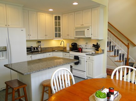 West Falmouth near Old Silver  Cape Cod vacation rental - Updated kitchen w/ breakfast bar and dining area