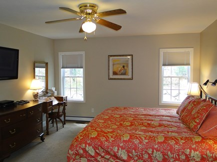 West Falmouth near Old Silver  Cape Cod vacation rental - First floor king master suite with flat screen TV