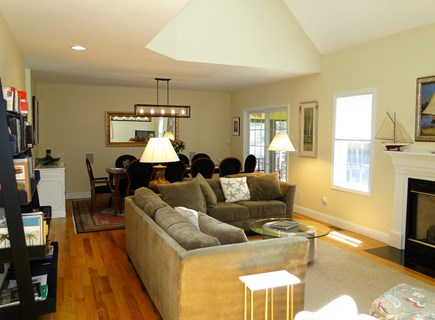 West Falmouth near Old Silver  Cape Cod vacation rental - Living room opens to dining room