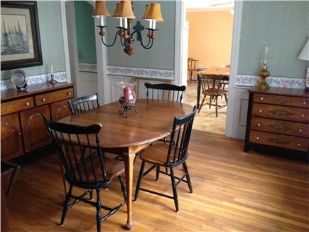 Harwichport/So Harwich, on cul Cape Cod vacation rental - Dining Room, with two additional leaves, this table readily seats