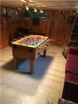 Harwichport/So Harwich, on cul Cape Cod vacation rental - Game room with foosball table. Puzzles, games and toys available.