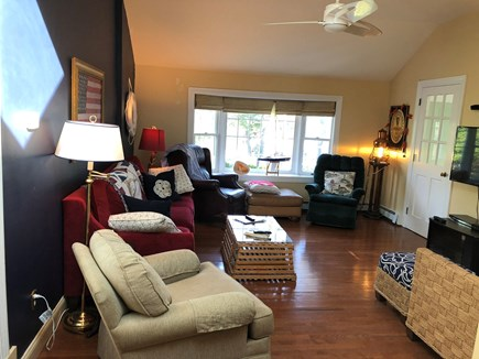 Harwichport/So Harwich, on cul Cape Cod vacation rental - Family Room with wide screen TV, cable and DVD player.