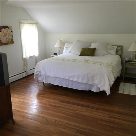 Harwichport/South Harwich Cape Cod vacation rental - Master King bedroom w/TV. Photo taken from sitting area.
