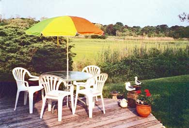 Barnstable Village Cape Cod vacation rental - Deck Overlooking Salt Marsh