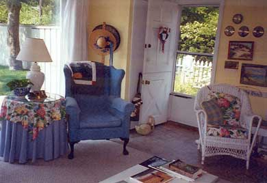 Barnstable Village Cape Cod vacation rental - Family Room and Front Entrance