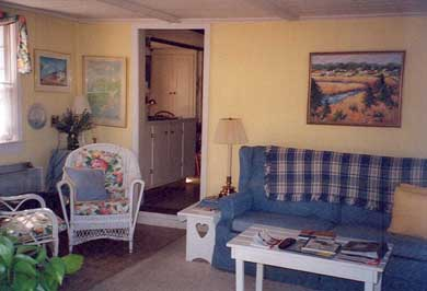 Barnstable Village Cape Cod vacation rental - Family Room with Opening to Kitchen