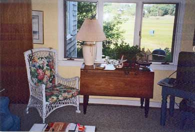 Barnstable Village Cape Cod vacation rental - Family Room Window Overlooks Salt Marsh