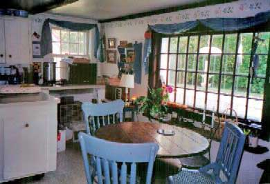 Barnstable Village Cape Cod vacation rental - View the Garden, Birds & Strollers from Kitchen & Dining Area