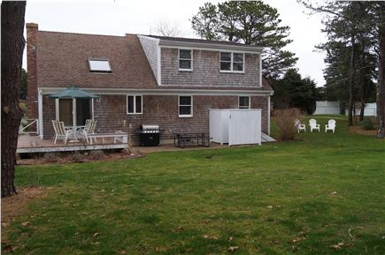 Chatham Cape Cod vacation rental - Large level yard abutting preservation land