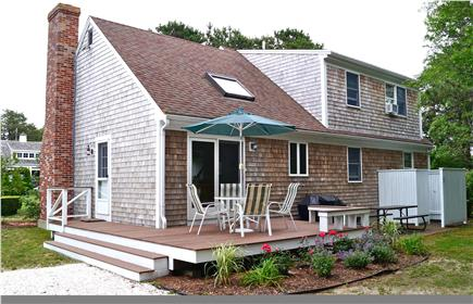 Chatham Cape Cod vacation rental - Private back-yard deck, patio with gas grill and outdoor shower