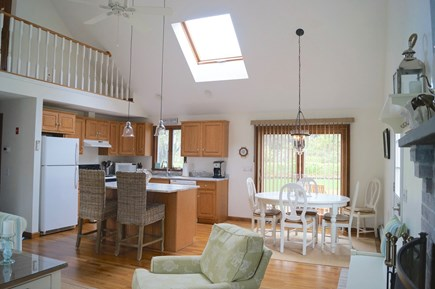 Chatham Cape Cod vacation rental - Vaulted kitchen and family room with large skylight