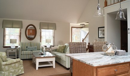 Chatham Cape Cod vacation rental - Living room with cathedral ceiling - open floor plan