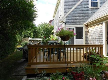 Sandwich Cape Cod vacation rental - Deck off Back