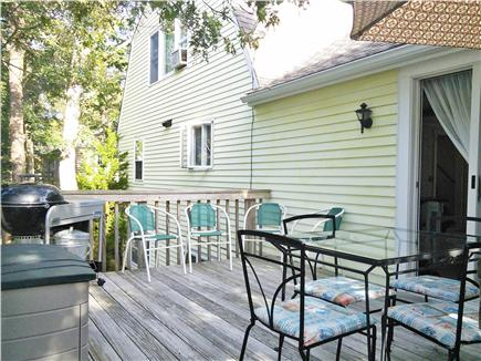 Brewster Cape Cod vacation rental - Rear deck off family room with charcoal grill