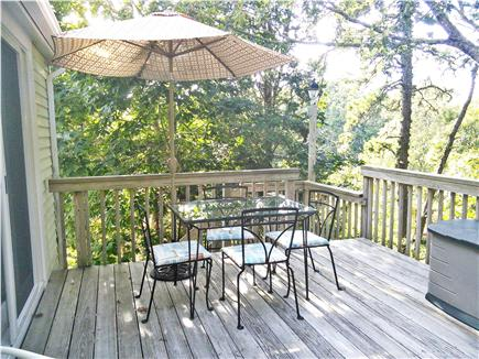 Brewster Cape Cod vacation rental - Rear deck with patio set