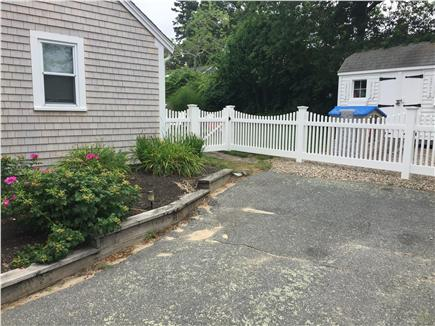 Dennis Port Cape Cod vacation rental - Backyard is fully fenced in to let the kids play!