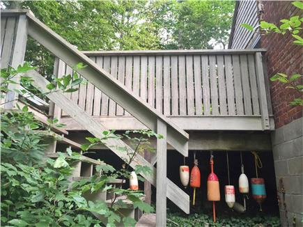 Falmouth, Woods Hole Cape Cod vacation rental - Stairs to deck