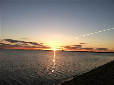 North Truro Beach Point Cape Cod vacation rental - Sunset over Provincetown Harbor