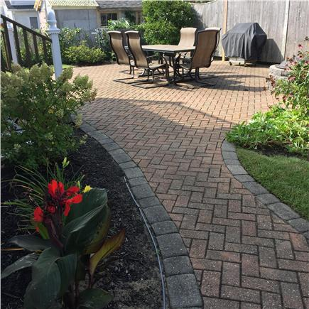 Dennisport Cape Cod vacation rental - Outdoor grilling area with fire pit