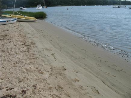 Mashpee Cape Cod vacation rental - Beach in front of the property.