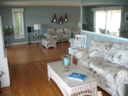 Mashpee Cape Cod vacation rental - Reading area between the kitchen and living room. Expansive views