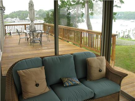 Mashpee Cape Cod vacation rental - Three Season room looking towards the Marina