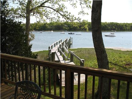 Mashpee Cape Cod vacation rental - Walkway to dock from the back yard