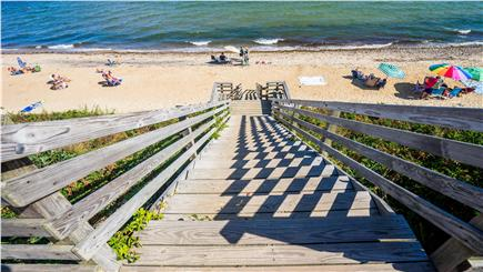 New Seabury, Mashpee New Seabury vacation rental - Stairs to private Maushop Beach