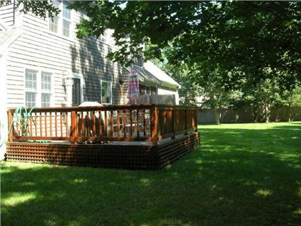 Eastham Cape Cod vacation rental - Back yard deck