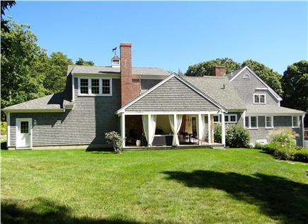 Barnstable Cape Cod vacation rental - Lovely and spacious back yard, showing outdoor living room