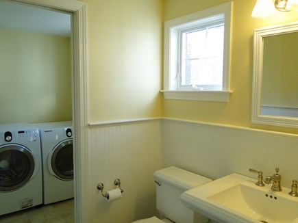 Barnstable Cape Cod vacation rental - First floor powder room adjacent to washing / dryer room